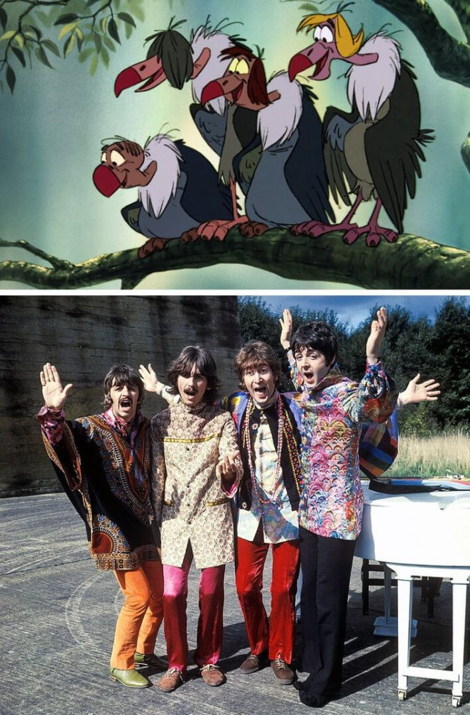 novel the jungle book Disney ingenious cameo of Beatles