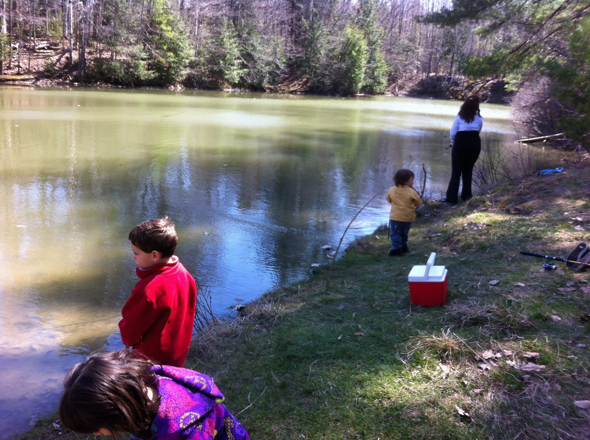 Trout fishing on alden s pond gorham maine april 28 for Fishing jobs in maine