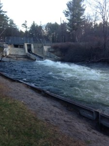 View of the dam by Mill Street