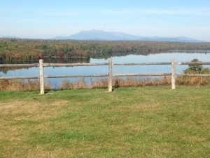 View of Mount Katadhin from south of Millinocket, Maine