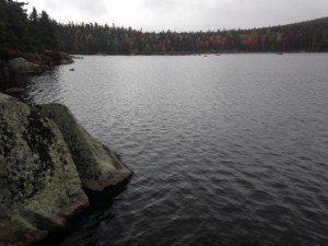 Russell Pond is isolated and remote