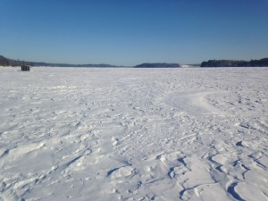 General view of Sabattus Pond looking north from Martin Point