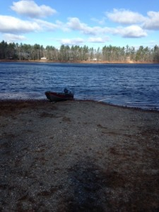 The boat launch with view of the northern shore