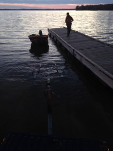 Beware that the boat launch off Route 302 in Raymond is very shallow in the fall