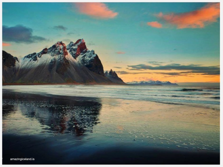Mt Vestrahorn on east coast of Iceland