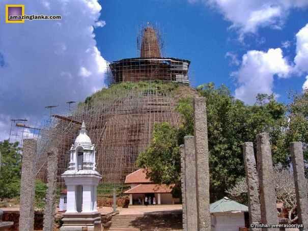 Stupa under restoration in 2008
