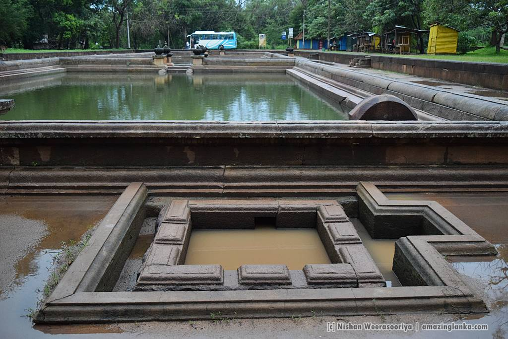 The water to Kuttam Pokuna is filtered a third and a forth time before entering the pond