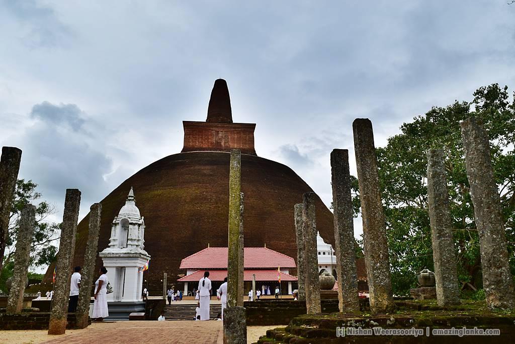 Abayagiri Stupa after restoration in 2015