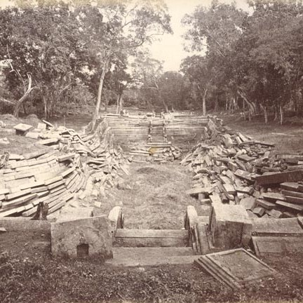 Kuttam Pokuna before restoration - photo taken on late 1800's or early 1900's