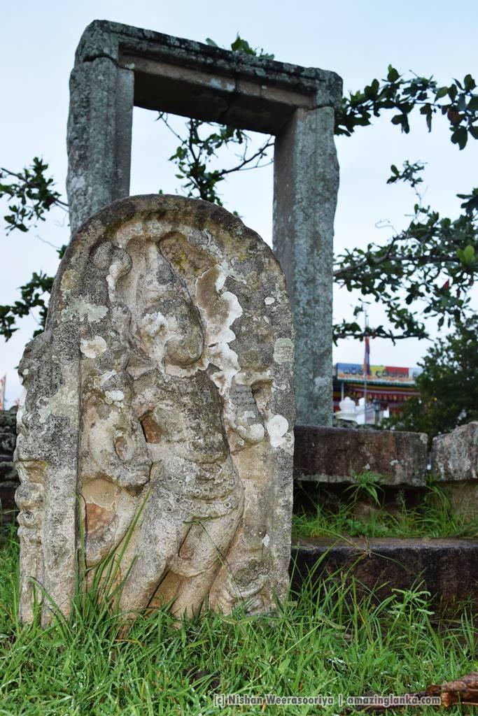 The guardstones of the smaller building near Dalada Medura