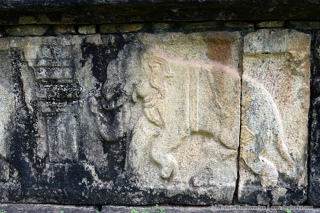 Carvings on the side of the platform - at the Royal Court of king Parakramabahu