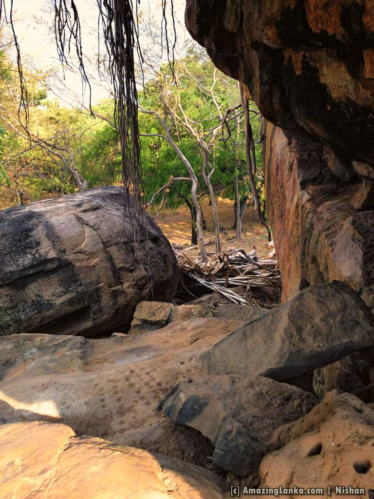 view from the cave of Gopala Pabbatha
