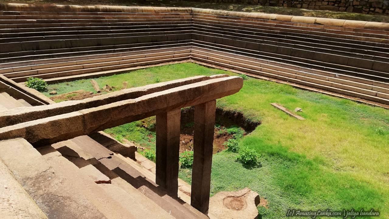 Large Pond at the Indikatu Seya Monastery Complex at Mihintale - මිහින්තලේ ඉඳිකටු සෑය ආරාමය