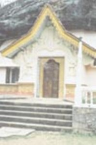 The new shrine room carved out of the rock