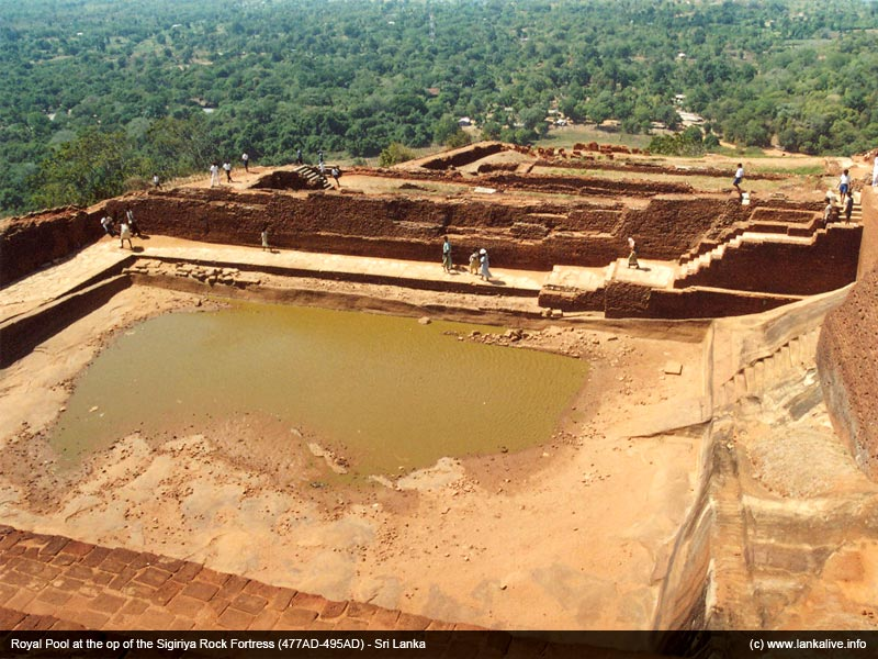 Pool at the top of the Sigiriya Rock which was part of Palace complex