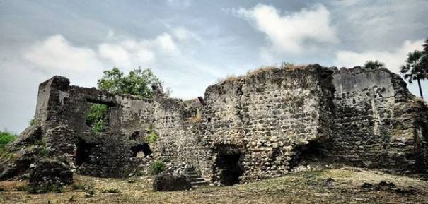 The ruins of Dutch Fort at Delft island in Jaffna