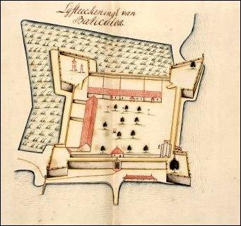 Map of Batticaloa Fort
