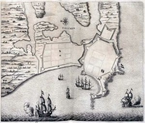 Map of the fort and the city of Colombo.- 1672