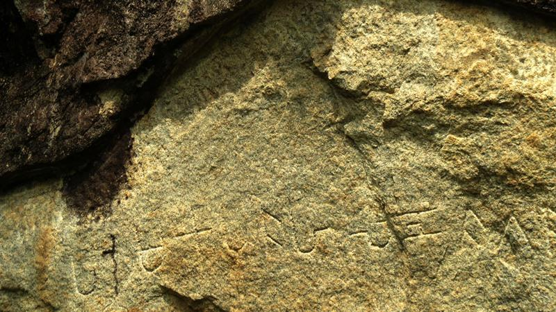 Inscriptions found in the caves of Bambaragasthalawa inside Kumana
