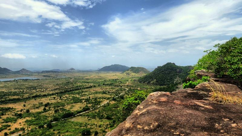 At the top of Kandegama Mountain