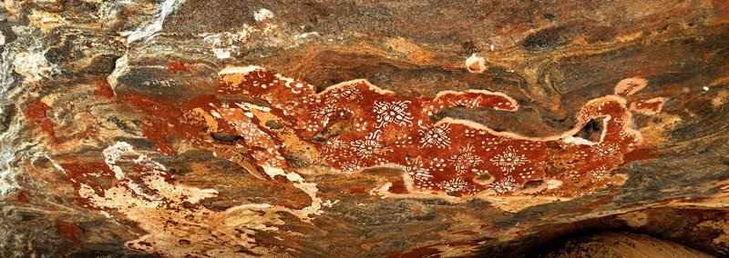 roof paintings of the Image house cave Miella (Myella) Kanda Ancient Cave Temple