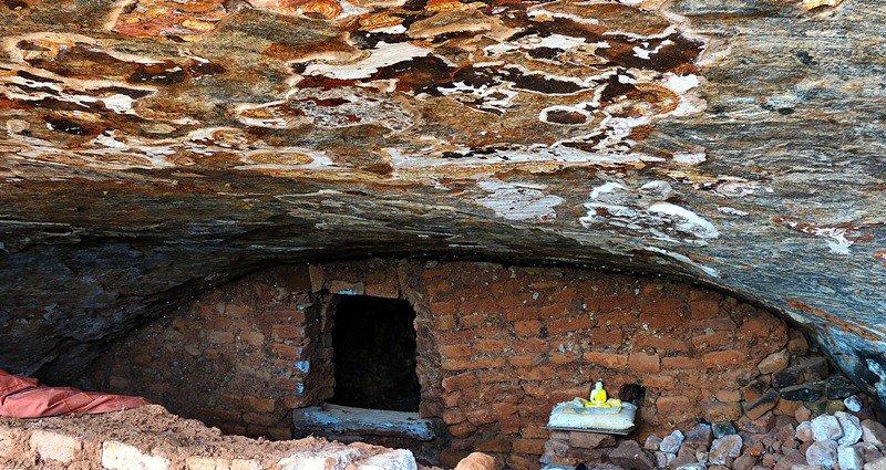 Inside the cave Miella (Myella) Kanda Ancient Cave Temple