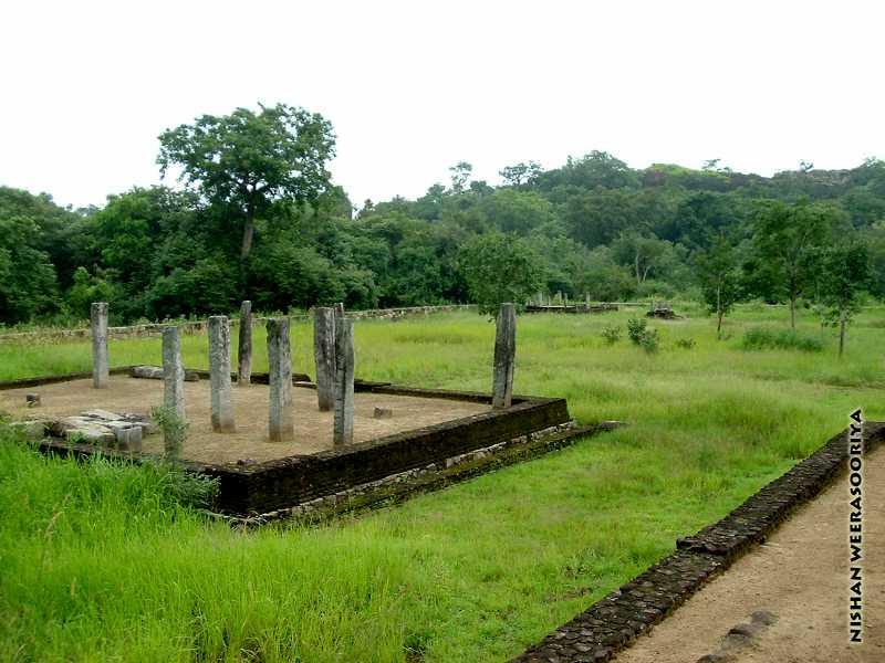 Remains of more buildings Dimbulagala Namal Pokuna Aramic Complex
