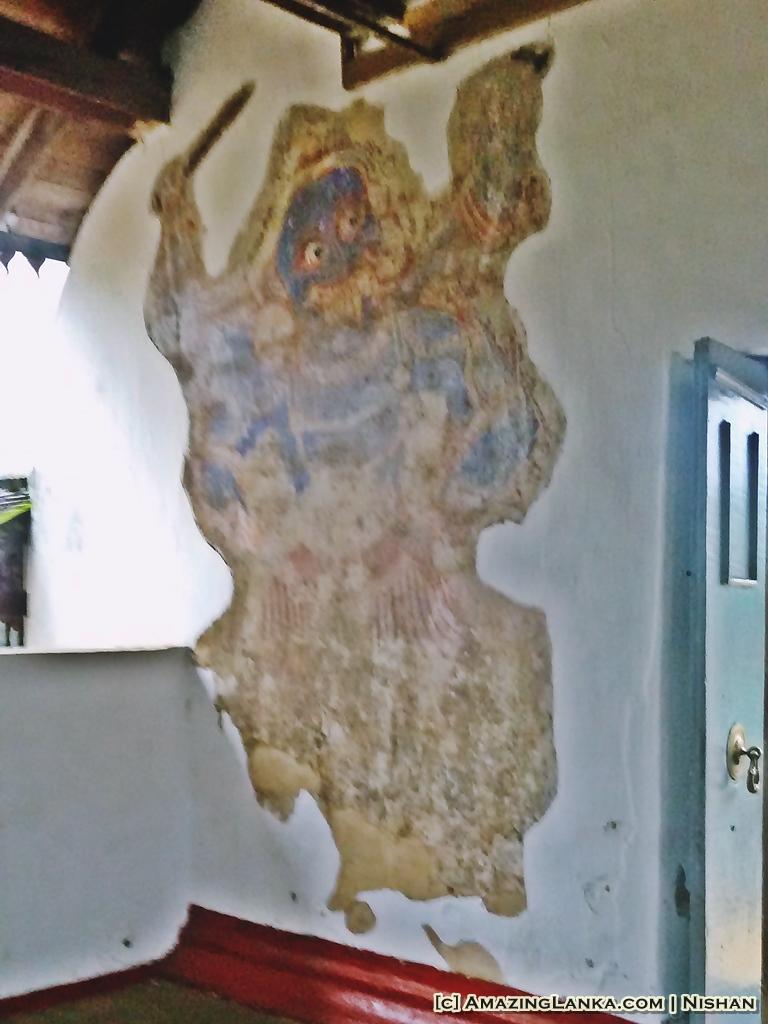 restored paintings at Maha Saman Devalaya, Ratnapura