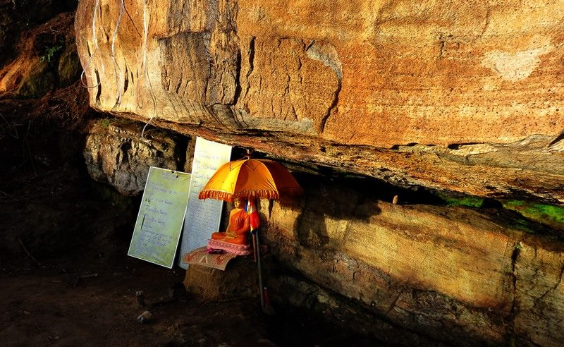At Baghawa Lena — at Sripada Temple, Adam's Peak.