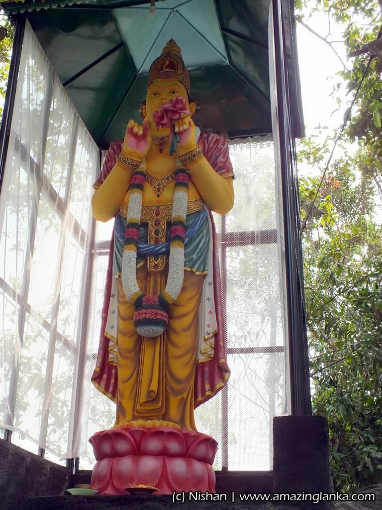 statue of Maithree Bodhisattva at the Hanuman Temple in Rumassala