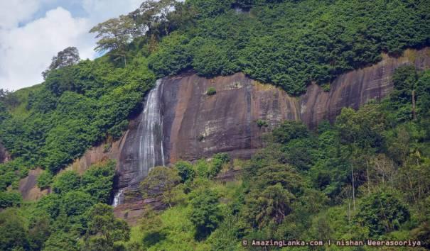 Upper Segment of Diyathiri Ella Waterfall seen from far
