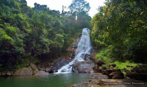 The 50m tall Beruwatta Ella Falls