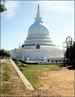 Japanese Peace Pagoda at Rumassala
