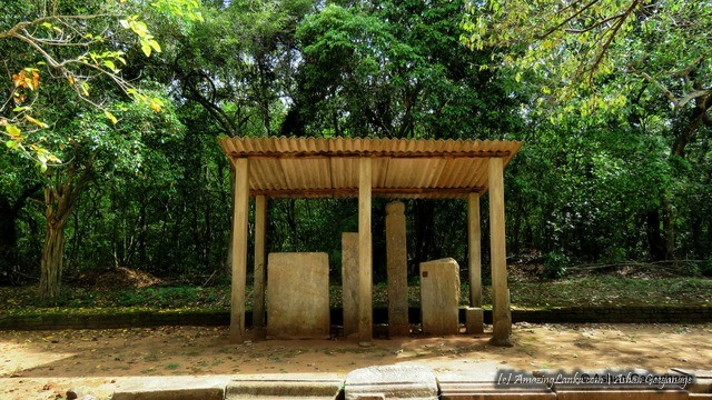 Some preserved stone inscriptions were in a shed put up by Archaeology department at the ancient aramic complex this complex of Padaviya Deiyanne Kanda Archaeological Site