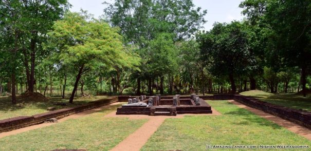 The preserved image house at the Pahalagama Archaeology Site