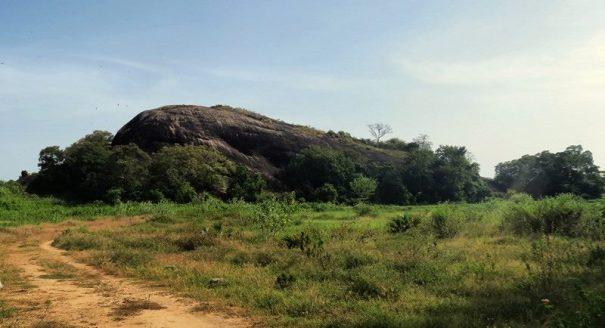 The rock at Kanchikudichchi Aru Reservoir