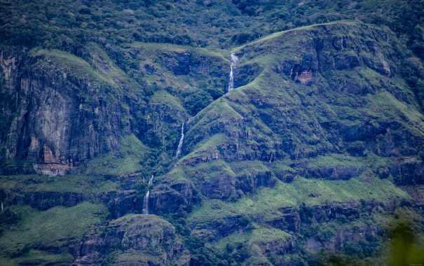 Gerandi ella cascades as seen from Mahiyangana Road