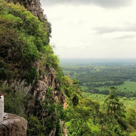View from the 2nd cave image house at Sri Nagala Rajamaha Viharaya at Nikawewa
