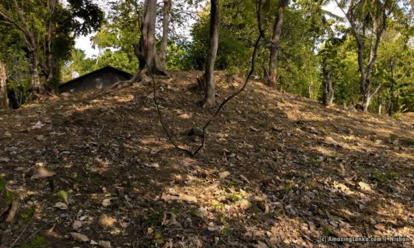 Ruins at the 19th post - An ancient stupa resembling a mound of earth