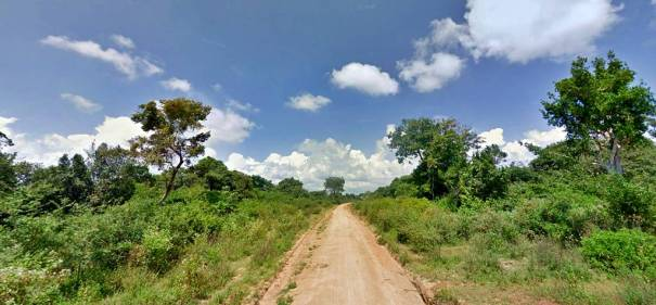 The road through the jungles passing the Hijra Nagar Muslim housing scheme towards the marked GPS location. lDarampanawa Archaeological Site