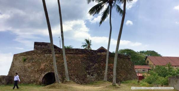 The Black Fort of Galle, Sri Lanka also called Santa Cruz or Zwart Fort (Zwart Bastian)