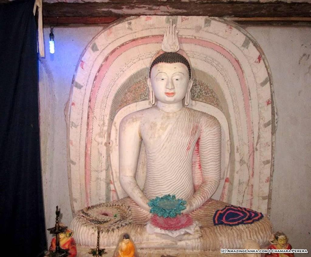 Wooden Buddha Statues in the Weragama Purana Tampita Rajamaha Viharaya (Diya Bubule Pansala)