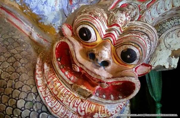 Unique Makara Torana at the Thalgaspitiya Deniyathanna Tampita Viharaya