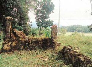 What remains of the hall where the Udanwita Vadaya was held at Udanwita Purana Tampita Viharaya