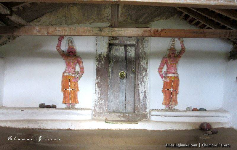 An image house of the Nathagane Ancient Cave Temple Complex in Kurunegala