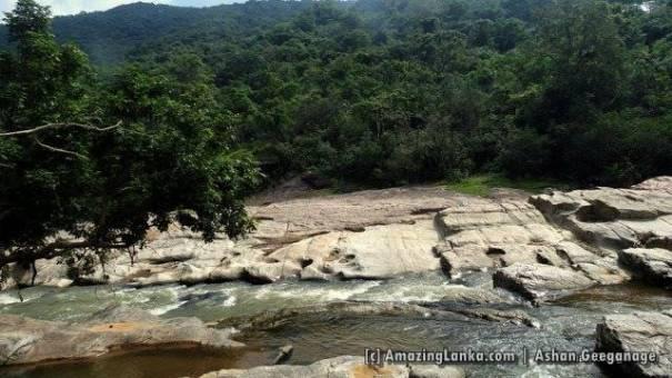 Towards of Kuda Oya across paddy fields at Golumale