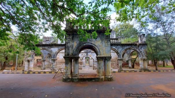 Ruins of the Dutch Kachcheri Building in Jaffna - යාපනය ඕලන්ද කච්චේරි ගොඩනැගිල්ල නටබුන්
