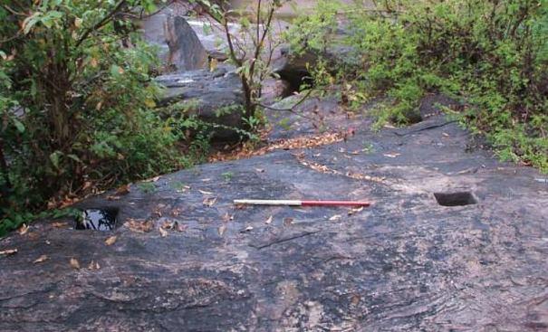 Ruins of the ancient Ebawalapitiya Gal Palama (stone bridge)