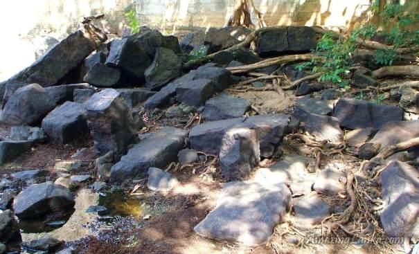 නව අමුණෙන් විනාශ වූ ඉලුක්වැව  පුරාණ අමුණ - Ancient Ilukwewa Amuna on Yan Oya