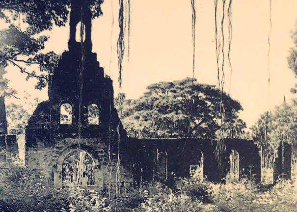 Ruins of Church of Our Lady of Angels in Myliddy - Jaffna 1971